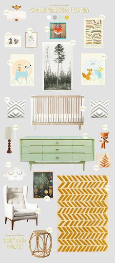 Whispering Pines - Color Name Baby - Ideas of Color Name Baby - Lay Baby Lay: whispering pines nursery inspiration Baby Boy Nursery Themes, Baby Boy Rooms, Baby Boy Nurseries, Baby Decor, Kids Decor, Nursery Room, Girl Nursery, Nursery Decor, Nursery Ideas