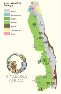 Kruger park Geological map