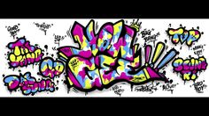 "wacom cintiq companion hybrid drawing - graffiti ""big bang -howgee"" by L..."
