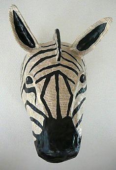 Sculpture animal en Papier Mâché trophée, Art, Figurine, sculpture - PrimaCréa
