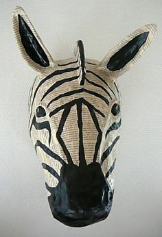 Sculpture animal en Papier Mâché trophée, Art, Figurine, sculpture - PrimaCréa