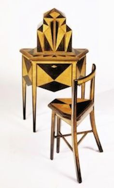 Art Deco Abel Faidy Telephone stand - c. 1927 -  Ebonized walnut and maple marquetry with mechanized doors - Minneapolis Institute of Arts