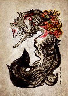 """""""The power of the wolf goddess ran through her, her sea-foam fur and blood-etched markings. She vowed to continue on, despite misgivings...because she knew she would NOT fail."""""""