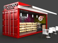 Mobile Container Café for El Globo by MAVERICK STUDIO, via Behance