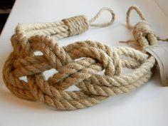 Jute natural rope Curtain Tie-backs-Nautical Decor-Carrick