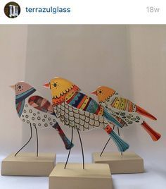 Image result for fused glass stand up animals