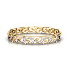 belle de jour gold diamond bangle