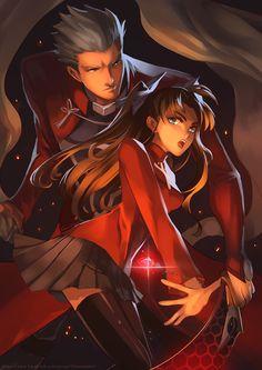 Fate/Stay Night - Archer and Rin Tohsaka