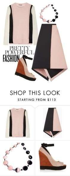 """""""Pretty, Powerful"""" by beetlescarab ❤ liked on Polyvore featuring Vince, BCBGMAXAZRIA, Antica Murrina, Paul Andrew, colorblock, cashmere and powerlook"""