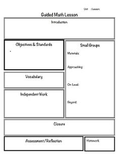 This is a very basic, but helpful lesson plan template that meets ...