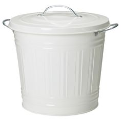 KNODD Bidone con coperchio - bianco, 16 l - IKEA