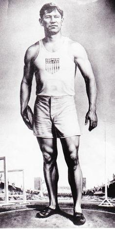 Jim Thorpe Olympic Gold Medal winner 1922  born in Prague, OK  1888