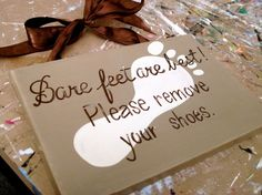 Remove Your Shoes Sign by dreamcustomartwork on Etsy, $20.00