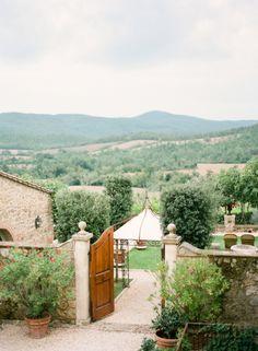 Tuscan Countryside from the Borgo Santo Pietro