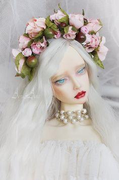 Rose Garden flower crown handmade headband headdress headwear