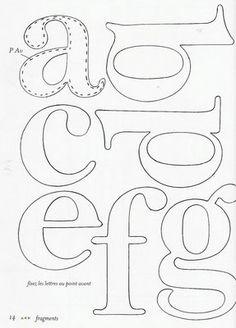 Molde de Letras 1 - Feltro | Flickr: Intercambio de fotos