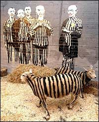 Banksy ~ Animal Concentration Camp for Human Consumption