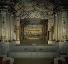 Gripsholm interiors - the Gripsholm Theater Stage