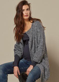 Queen mum - Black Tweed Knit Cardigan
