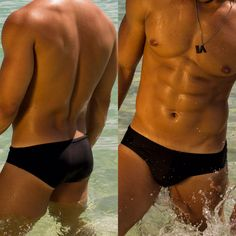 LASSEVO swimwear and necklace #swimwear #swimbrief