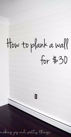 DIY Remodeling Hacks - Plank a Wall for $30 - Quick and Easy Home Repair Tips and Tricks - Cool Hacks for DIY Home Improvement Ideas - Cheap Ways To Fix Bathroom, Bedroom, Kitchen, Outdoor, Living Room and Lighting - Creative Renovation on A Budget - DIY Projects and Crafts by DIY JOY http://diyjoy.com/diy-remodeling-hacks