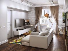 Дизайн 2-комнатной квартиры в стиле лофт