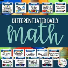 **FULL YEAR BUNDLE **: Differentiated Daily Math For Ontario Gr. 3-6 What Is Classroom, Ontario Curriculum, Math Pages, Area And Perimeter, Math Division, Math Problem Solving, Daily Math, Writing Strategies, Differentiated Instruction