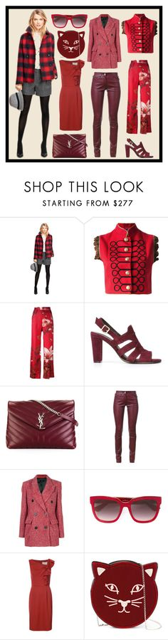 """""""Complete Package"""" by cate-jennifer ❤ liked on Polyvore featuring Brooks Brothers, La Condesa, F.R.S For Restless Sleepers, Tila March, Yves Saint Laurent, Sylvie Schimmel, Isabel Marant, Gucci, Carolina Herrera and Charlotte Olympia"""