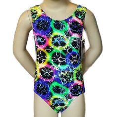 Child Extra Small New Pelle CXS Leotard Gymnastic Girl Dance USA Tag Green