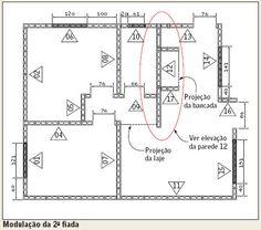 Execução de alvenaria Os itens que devem ser observados na leitura de plantas de execução de alvenaria
