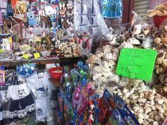 Mercado de artesanias en el puerto de Veracruz