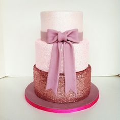 glitter cake | Pink glitter wedding cake w/ @Autumn Eaken Events Austin ! | Flickr - Photo ...