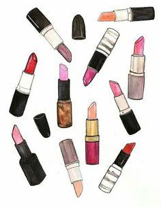 My original lipstick illustration. Makeup Is Life, Makeup Blog, Makeup Art, Graphic Design Illustration, Illustration Art, Beauty Illustrations, Printable Lables, Printables, National Lipstick Day