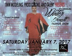 Come out and support this event. TMW and Reveal Cosmetics has teamed up to bring you TMW Winter Benefit Fashion Show. Come find so fabulous one of a kind designs and get some of the best cosmetics arround. We will have a vendor booth full of cosmetics skincare and accessories. Some accessories will be 50% off. Tickets only sold at the door.  Every makeup lover should use a skin loving cosmetics line. At Reveal the beauty you Require is our Desire.  RevealCosmeticsOnline.com  #womeninbusiness…