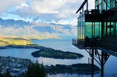 Neuseeland, See, Berg,