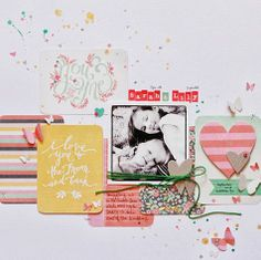 *One Scrappin' Mama ~ layout using We R Memory Keepers cards from Target