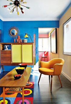 Modern retro ev dekorasyonu
