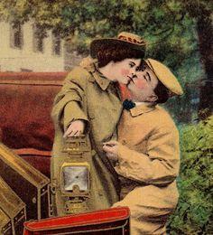 Antique Romantic Tinted Real Photo Postcard Auto by VintagenutsInc, $6.50