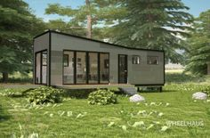 Wheelhaus builds the next generation of modular prefab cabins. Our Wheelhaus tiny homes are eco friendly modular luxury cabins on wheels. Prefab Cabins, Tiny Cabins, Prefabricated Houses, Affordable Prefab Homes, Modern Prefab Homes, Modular Homes, Tiny House Plans, Tiny House On Wheels, Shipping Container Home Builders