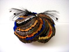 Incredibly fabulous vintage hat from the 1950s with an array of colorful…