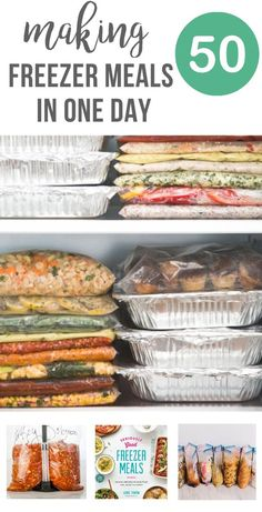 50 Freezer Meals in a Day - a guide to cooking a lot of meals all in one day and eating for a month or longer. Plus recipes and tips for success. Vegetarian Freezer Meals, Chicken Freezer Meals, Freezable Meals, Freezer Friendly Meals, Make Ahead Freezer Meals, Big Meals, Freezer Recipes, Bulk Cooking, Freezer Cooking