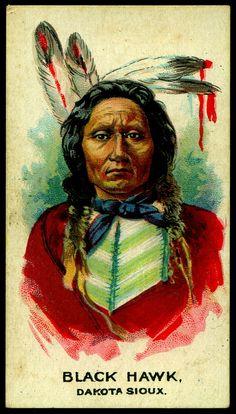 Cigarette Card - Indian Chief, Black Hawk