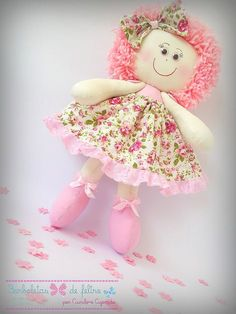 bonecas floral   Atelie mania