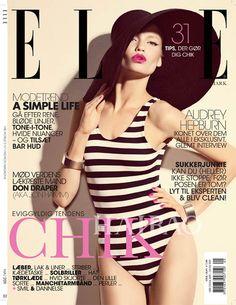模特Laura Blokhina登上时尚杂志《Elle》丹麦版2011年5月号封面,摄影师Sigurd Grunberger掌镜_时尚杂志_时尚杂志_海报时尚网