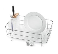 After putting in 70 hours of research, looking at 28 new dish racks, and doing the equivalent of 39 loads of dishes, we think the Polder 4-Piece Advantage Dish Rack System is the best option for most kitchens. It isn't perfect—no dish rack is—but it holds a heavy load within a relatively small footprint, drains well, and is easier to keep clean than other models.