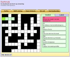 A Crossword made in Adobe Flash. Content and design is loaded via XML.