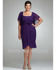 Wholesale-2014 Mother of the Bride Chiffon Pant Suits Plus Size Mother of the Bride Dresses Knee length