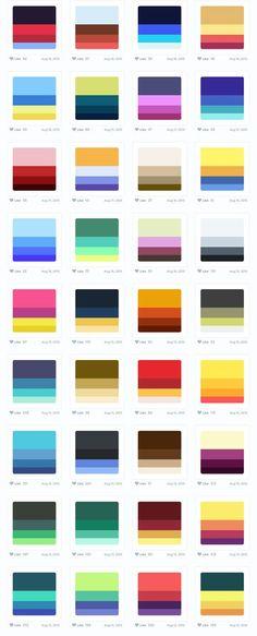 配色に困ったら!参考配色例付き配色提案サービス「Color Hunt」が便利 Palette Art, Colour Pallette, Colour Schemes, Color Combos, Color Patterns, Color Mixing Chart, Color Palette Challenge, Color Plan, Color Psychology
