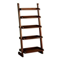 Home Decorators Collection Lugo 5-Shelf Ladder Display in Oak-CM-AC293 - The Home Depot