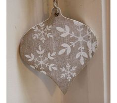 Wooden Snowflake Bauble Christmas Decorations